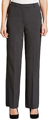 Gardeur City Straight Leg High Rise Trousers, Grey