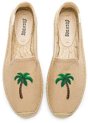 Soludos Palm Tree Smoking Slipper