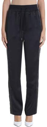 Off-White Off White Equestrian Pajama Black Crepe-de-chine Trousers