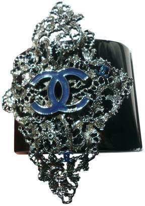 Chanel Navy Metal Bracelet