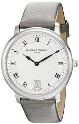 Frederique Constant Mid-size FC-220M4S36 Slim Line Grey Satin Strap Watch
