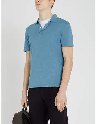 90b9deb89 Sandro Blue Men s Polos - ShopStyle