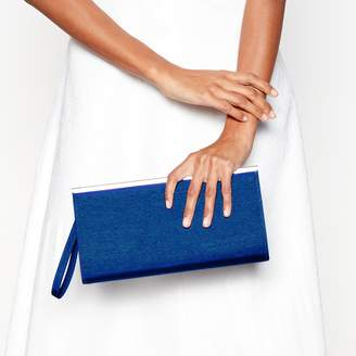 Debut Blue Zip Top Clutch Bag