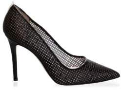 Sarah Jessica Parker Fawn Perforated Leather Stiletto Pumps