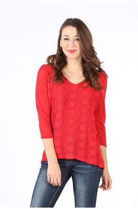 Asstd National Brand Crochet Front Lined Blouse