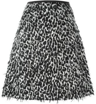 Burberry frayed A-line skirt