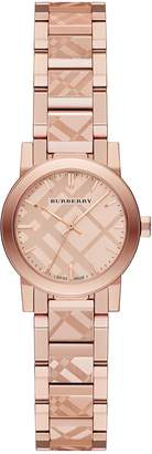 Burberry BU9235 26mm Gold Plated Stainless Steel Case Gold Plated Stainless Steel Synthetic Sapphire Women's Watch