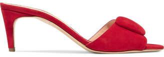 Rupert Sanderson Gwyneth Suede Mules - Red