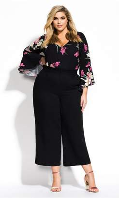 City Chic Citychic Lady Floral Top - black