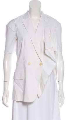 Theory Notch-Lapel Linen Vest