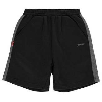 Slazenger Kids Fleece Shorts Junior Boys Warm Sports Pants Training Bottoms