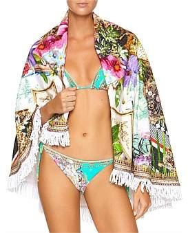 Camilla Champagne Coast Round Towel W/ Fringe