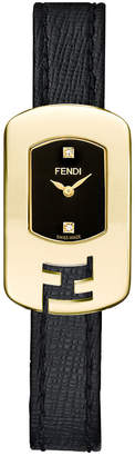 Fendi Small Black Chameleon Diamond Timepiece, 18Mm