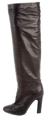 Nina Ricci Leather Knee-High Boots