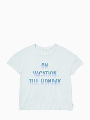 Kate Spade Girls on vacation tee