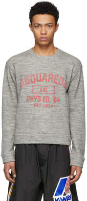 DSQUARED2 Grey Crack Print Dan Sweatshirt