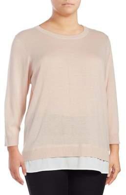 Calvin Klein Plus Plus Ribbed Crewneck Sweater