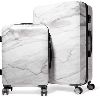 CalPak Astyll Marbled Hardshell Suitcase Set - White