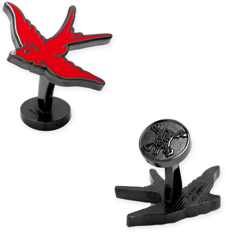 "Disney Disney® ""Pirates of the Caribbean"" Black-Plated Red Sparrow Cufflinks"