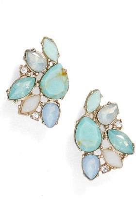 Women's Marchesa Paradise Cluster Button Stud Earrings $55 thestylecure.com
