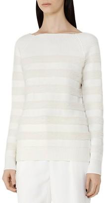 REISS Orphilla Textured-Stripe Sweater $240 thestylecure.com