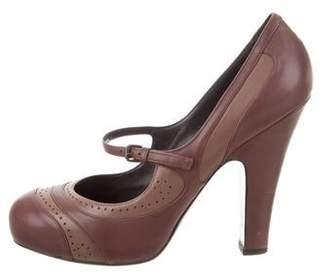 accc21b474d Bottega Veneta Leather Mary Jane Pumps