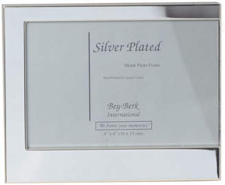 Bey-Berk Bey Berk Silver Plated 4X6 Picture Frame With Easel Back