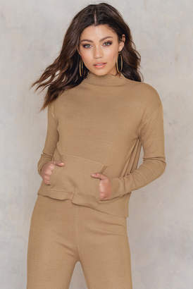 NA-KD Na Kd Knitted Front Pocket Sweater
