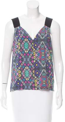 Zero Maria Cornejo Geometric Print Sleeveless Top