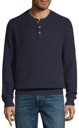 ST. JOHN'S BAY Henley Neck Long Sleeve Pullover Sweater