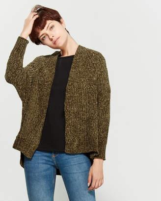 Poof Apparel Chenille Knit Dolman Sleeve Sweater