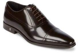Versace Cap Toe Leather Oxford Shoes