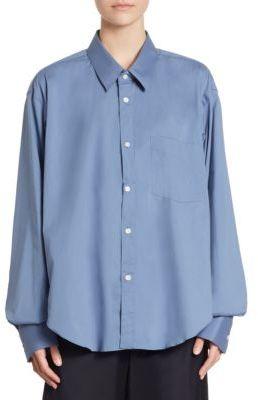 VETEMENTS VETEMENTS x Comme Des Garcons Classic Button-Down Shirt $760 thestylecure.com