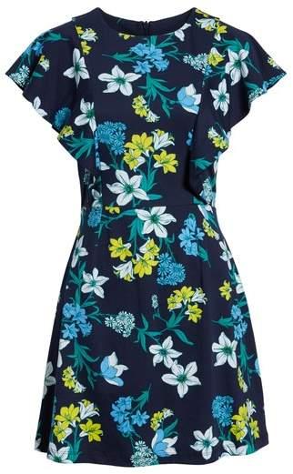 Floral Ruffle Cotton Dress