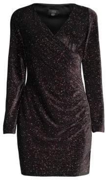 Aidan Mattox Metallic Knit Mini Dress