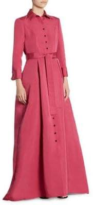 Carolina Herrera Silk Trench Gown