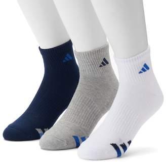 adidas 3-Pack Climalite Cushioned Performance Quarter Socks - Men
