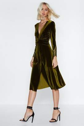Nasty Gal When in Doubt Velvet Dress