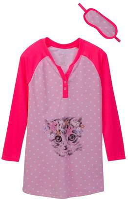 Jessica Simpson Nightgown & Sleep Mask Set (Big Girls)