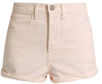 Raey Low Cut Off Denim Shorts - Womens - Nude