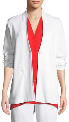 Eileen Fisher Tencel® Ponte Knit Easy Blazer, Plus Size