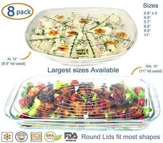Silicone Stretch Lids Reusable 8 Pack Food Covers