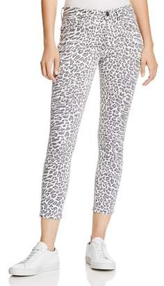 Current/Elliott The Stiletto Cropped Skinny Jeans in Warped Leopard