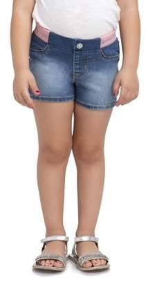 Jordache Toddler Girl Knit Banded Waist Denim Shorts