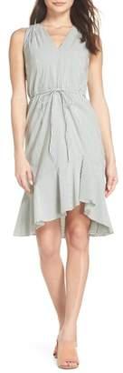 Adrianna Papell Stripe Hi-Lo Dress