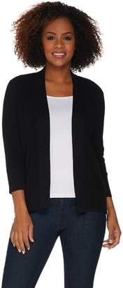 Halston H By H by Open Front 3/4-Sleeve Cardigan w/ Forward Zippers