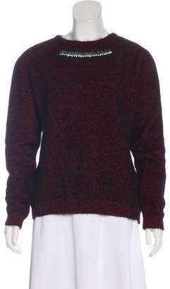 No.21 No. 21 Wool-Blend Embellished Sweater