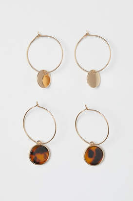 H&M 2 Pairs Earrings - Gold