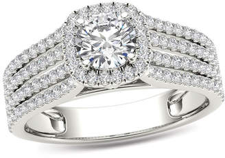 Zales 1 CT. T.W. Diamond Frame Multi-Row Engagement Ring in 14K White Gold