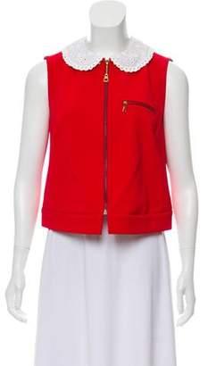 Louis Vuitton Sleeveless Zip-Up Top